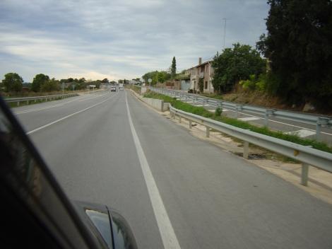 Tram actual de la carretera per el pas d'Ultramort (BE)